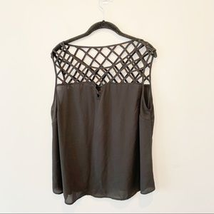 Torrid Sheer Criss Cross Strap Tank Top